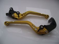 Buell XB12 2004-2008, CNC levers set long gold with black adjuster F21/B55